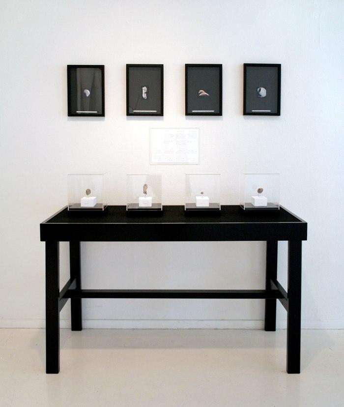 Asteroide -og Månesteiner. 2007-2008. Installasjon Østfold Kunstsenter.